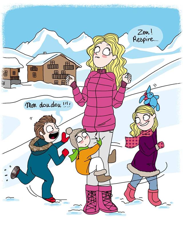 Les Vacances Au Ski Illustrees Par Astrid M France Montagnes Site Officiel Des Stations De Ski En France
