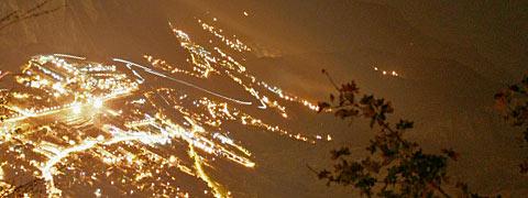Vallée de la Maurienne la nuit, Crédits : Aurélien ANTOINE