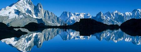Le Lac Blanc et le massif du Mont Blanc  © RA Tourisme/S. Godin