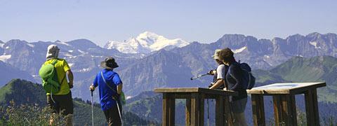 Vue sur le Mont Blanc depuis Chatel ; Crédits : FM / Chantal BOURREAU