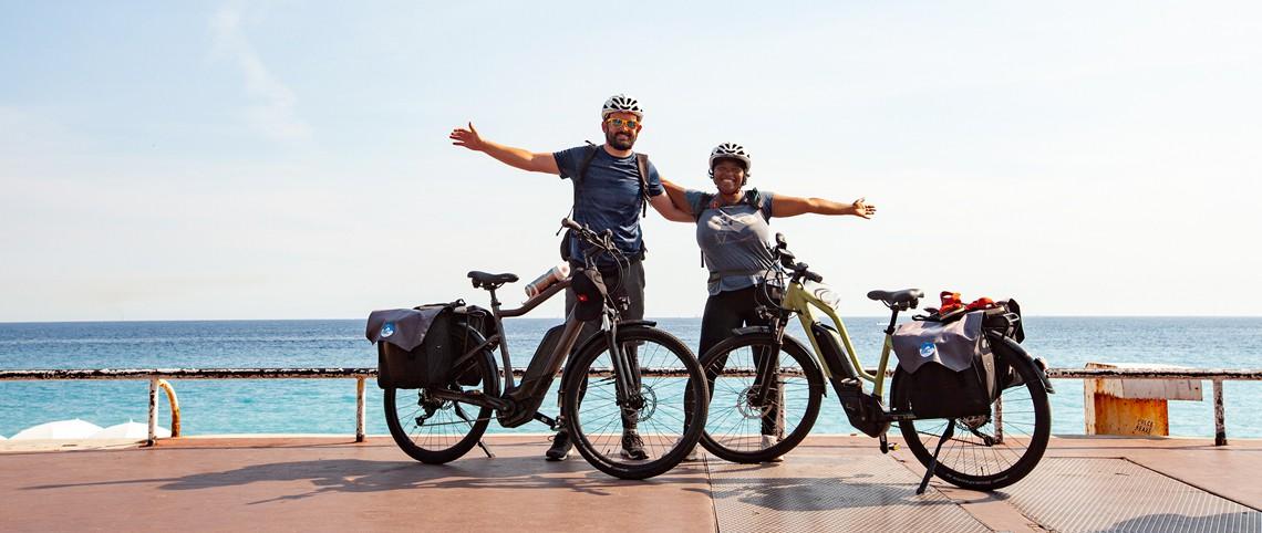 Ils ont traversé les Alpes à vélo : mission accomplie !