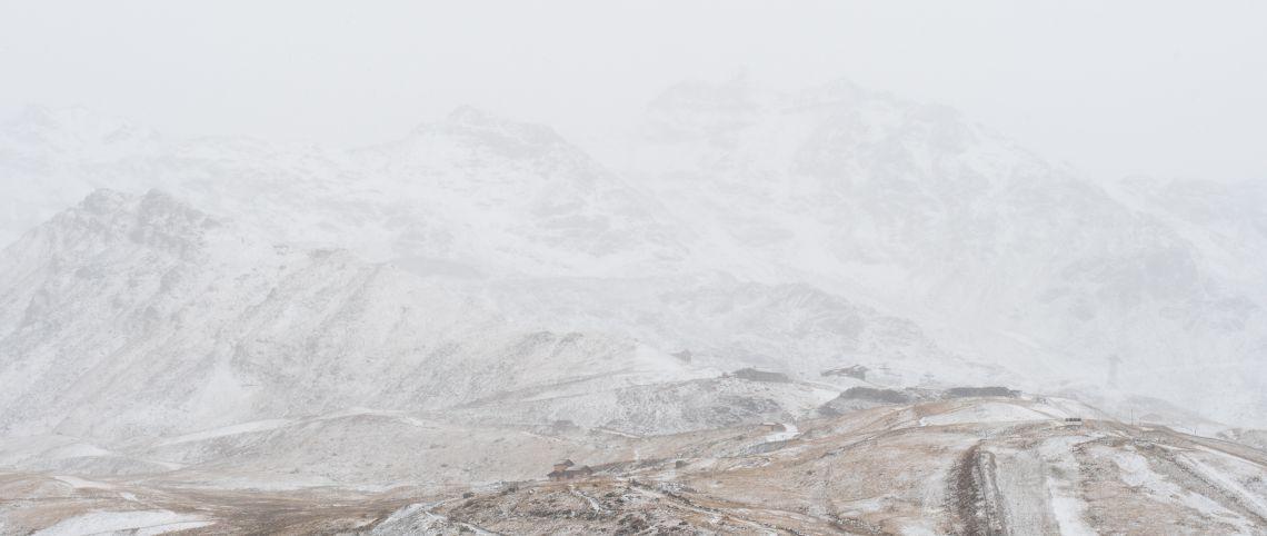 13 oktober: eerste sneeuw in de Alpen