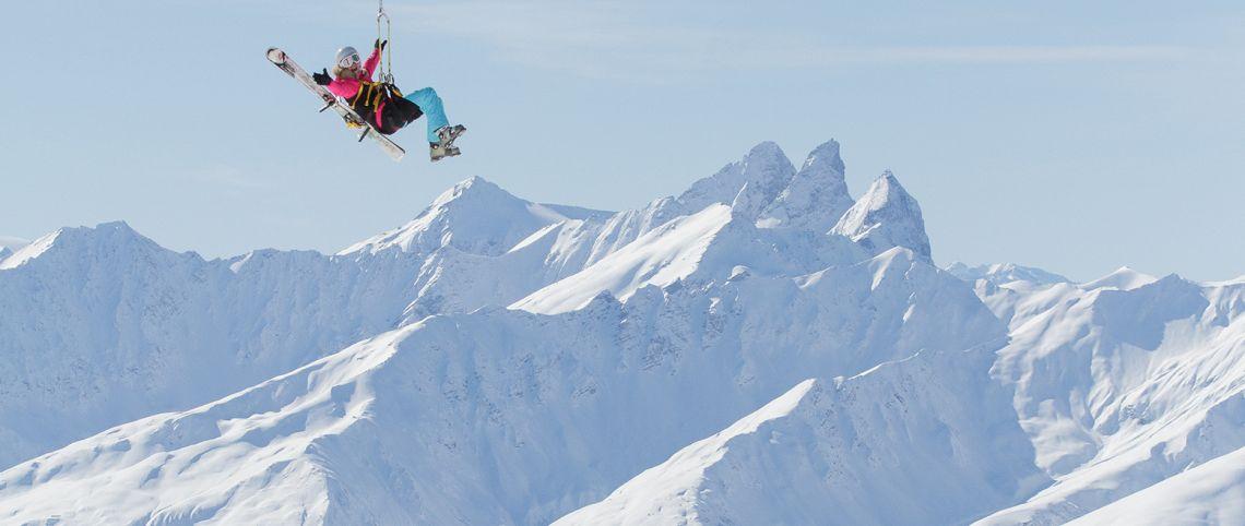 Val Thorens ouvre la plus haute tyrolienne du monde