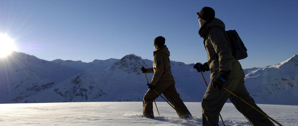 La marche nordique, c'est aussi sur neige !