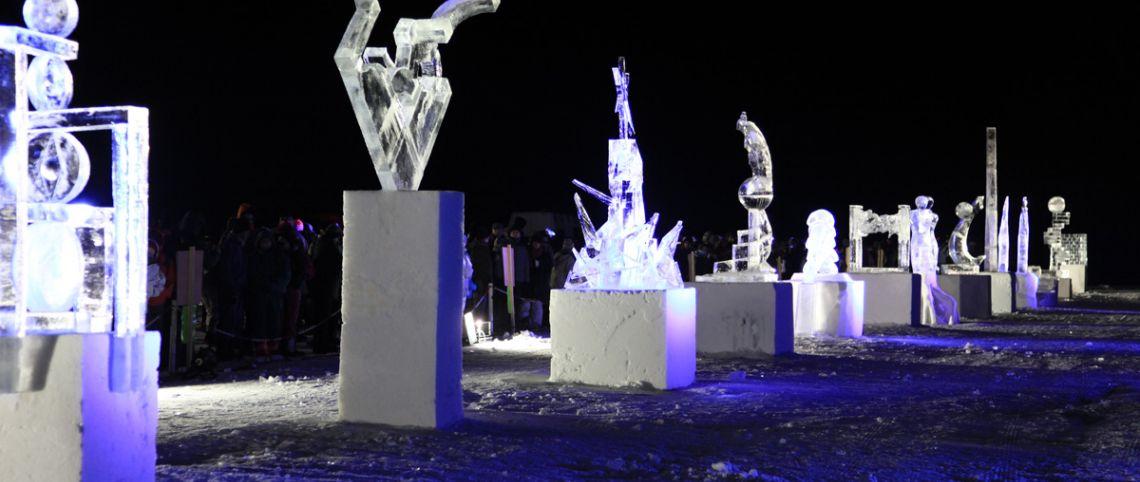 Sculptures sur glace : elles brillent de mille feux !