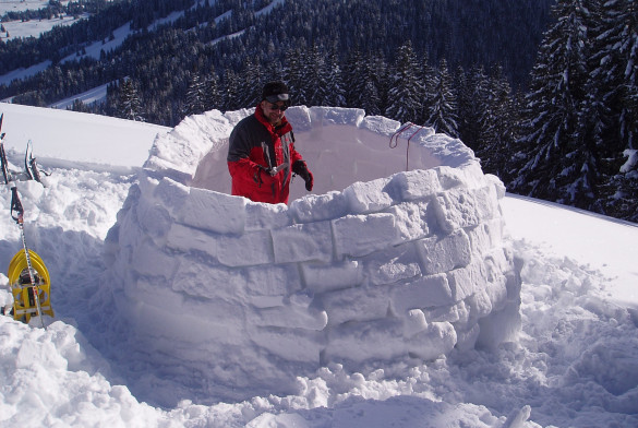 Construction d'igloo