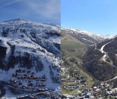 Le printemps à la montagne : avant/après