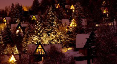 15 droomchalets om kerstavond te vieren