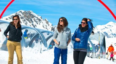 Lekker skiën met vriendinnen